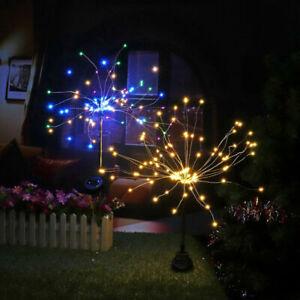 1/2 pc  90/120 LED Solarbetriebenes Feuerwerk Starburst Stake Fairy Light Garden