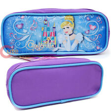 Disney Princess Cinderella Pencil Case Zippered Pouch Bag Canvas