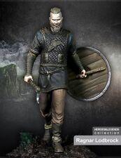 SCALA 75 Ragnar lodbrok Viking Warrior 75mm Kit in metallo non verniciata