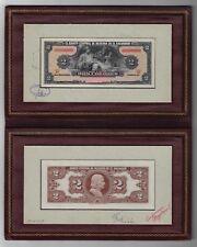 El Salvador A Rare Booklet 2 Colones 17-3-1954 Essay Specimen Uncirculated