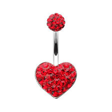 Classic Heart Multi-Sprinkle Dot Belly Button Ring Many Colors