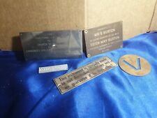 Wall Metal plaque vintage x5