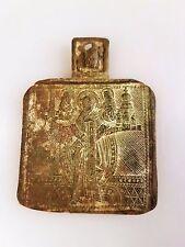 Vecchia grande viaggio icona icona HL. Nikolaus di mohzajsk Bronzo Russia
