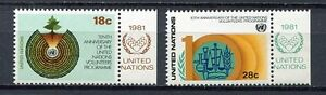 19163A) UNITED NATIONS (New York) 1981 MNH**Volunteers progr. + lab