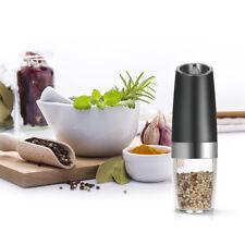 Automatic Gravity Electric Adjustable Salt /Pepper Grinder with Blue LED Light
