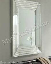 Large Layered Designer Wall Mirror Modern Glass Frame Frameless Venetian Horchow