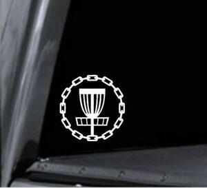 Disc Golf Basket Chain Circle Vinyl Decal Sticker Car Window Mug Laptop Stencil