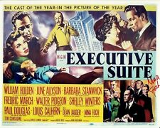 NINA FOCH hand-signed EXECUTIVE SUITE 8x10 uacc rd coa ALL-STAR CAST MINI-POSTER