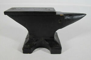 """Antique Wooden Small Anvil Foundry Pattern Mold 3"""" x 6"""" - Awesome Piece #2 yqz"""