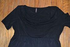 Old Navy MATERNITY Dress Black Short Sleeve Scoop Neck Size Large