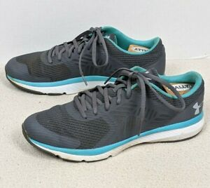 UNDER ARMOUR MICRO G PRESS TR GRAY/Teal Running Workout Gym Shoes Women's Sz 11