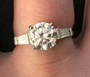 Sterling Silver Ring CZ Engagement 2 Cts Bella Luce JTV Sz 7 2g Rhodium925 #1241