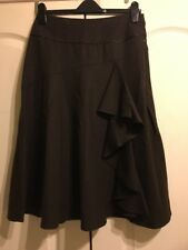 LAURA ASHLEY SIZE 10 BROWN WOOL MIX SKIRT