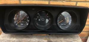 Classic Mini / Clubman Dash Speedo Instrument Set 90mph 3x Clock Set