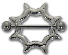 Brustwarzenpiercing SPIKES aus Chirurgenstahl Nipple Shield Brustpiercing