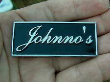 JOHNNO'S CAR BADGE Chrome Metal Emblem *NEW Factory 2nd* John Johnson Johnston