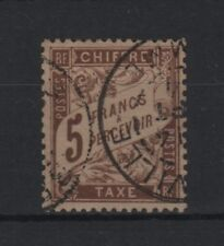 """FRANCE STAMP TIMBRE TAXE YVERT N° 27 """" TYPE DUVAL 5F MARRON """" OBLITERE TB  T642"""