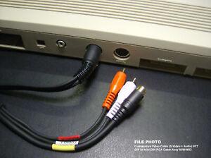 6' Commodore Video Monitor TV Cable (S-Video + Audio) C-64 / C-128 (8-PIN)