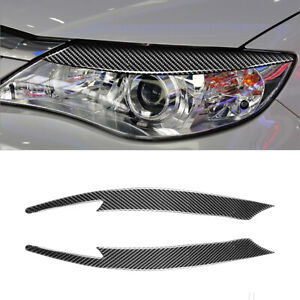 Carbon Fiber Headlight Eyelids Eyebrows for Subaru Impreza WRX STi X 10th GRB