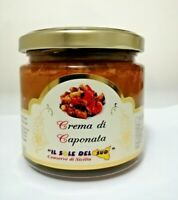 Crema di caponata Siciliana vaso da 190gr Conserva Siciliana 100%