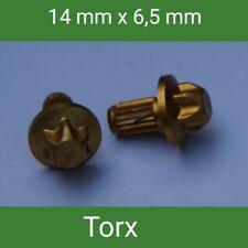 120 TAPPO ornamentali viti decorative cromo cerchi in lega gambale diametro 6,5mm TORX