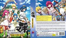 Magi: The Labyrinth of Magic: Season 1 2 3 (Chapter 1 - 63 End) ~ 6-DVD SET ~