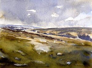 Moorland Ryedale POSTCARD Steve Greaves Watercolour Art Card Landscape Yorkshire
