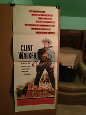 FORT DOBBS-CLINT WALKER-1st FILM-VIRGINIA MAYO-INSERT-1958-ORIGINAL MOVIE POSTER
