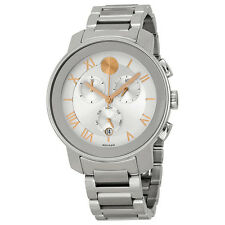 New Movado Bold Luxe Chrongraph Stainless Steel 40mm Unisex Watch 3600205