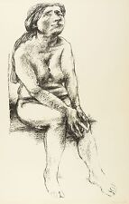WALDEMAR GRZIMEK - Akt - Lithografie 1968
