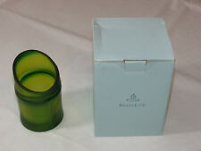 Party Lite P90661 Bamboo Tealight Holder green glass candle holder with box