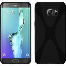 Funda de silicona Samsung Galaxy S6 Edge Plus X-Style - negro Case