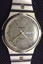 WRANGLER MENS STAINLESS STEEL WRIST WATCH WITH Green DIAL 77-360 New Battery