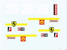 decals pour Dinky: Ferrari formule 1 ref. 1422
