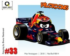 Coffee Mug 2018 Red Bull Racing RB14 #33 Verstappen by Bruno Mantovani (BRA)