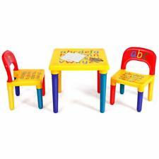3 TLG. Kindersitzgruppe Kindermöbel Kinderstuhl & Tisch Kindersitz Set Farbig