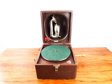 Vintage 1920s Decca Gramophone Trench Phonograph HMV PortableRecord Player