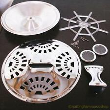 Chrome acoustic resonator guitar parts kit cone spider bridge cover tail piece
