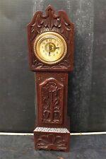 Minature Grandfather  00003216 30 hr mechanical movement carved oak case