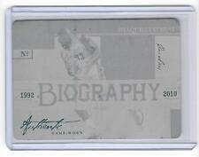SHAQUILLE O'NEAL 2009/10 NATIONAL TREASURES #1/1 MASTERPIECE PRINTING PLATE