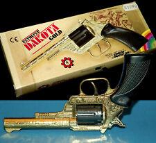 DAKOTA GOLD REVOLVER EDISON GIOCATTOLI OVP CAP GUN 80er RINGAMORCES 8 SH PISTOLE