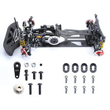 G4 RC 1:10 4WD Alloy Carbon Fiber Drift Car Chassis HSP scale Model RC4WD Black