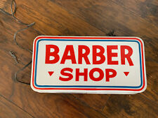 Vtg Lighted Barber Shop Light Neon Products Hand Painted Advertising Store Displ