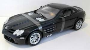 MOTOR MAX 73014K MERCEDES BENZ SLR McLAREN diecast model car black body 1:12th