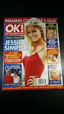 2005 AUGUST 15 OK! MAGAZINE PREMIER ISSUE Jessica Simpson Donald Trump Wedding