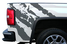 Custom Vinyl Graphics Decal Wrap Kit for 2014-2017 GMC Sierra Parts RIPPED Gray