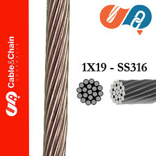 20 meters X  4mm 1X19 316 Stainless Steel Cable
