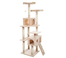66.25 In. Beige Skyscraper Sleep And Play Cat Tree Kitty Pet Scratch New No Tax