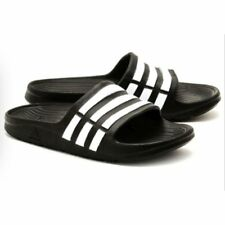 Adidas Kids Originals Adilette Aqua K Slide Sandal Black White Boys Girls Size 5