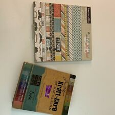 Sizzix Nostalgic Collection Pad 72pc & He Said She Said 24pc Paper Cardstock Lot